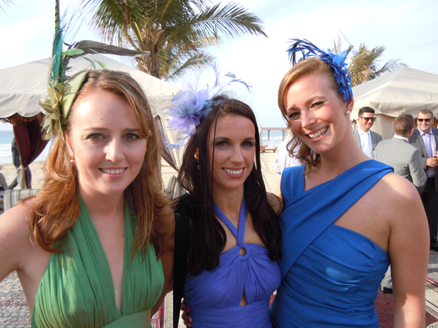 Fascinators at wedding in Dubai