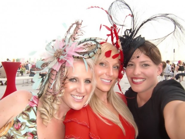 Customers wearing bespoke hair pieces
